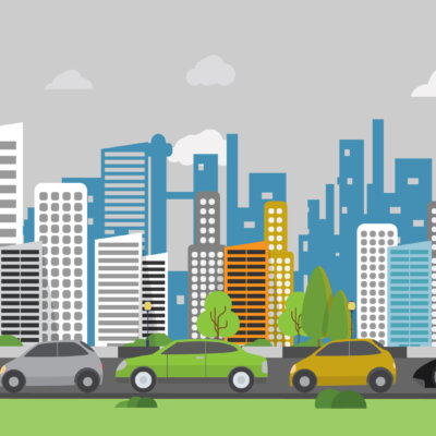 Traffic Jam - Illustration Background
