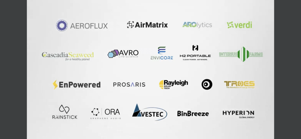 Image of logos of the companies that recently received SDTC seed funding.